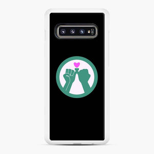 Black Owned 11 Samsung Galaxy S10 Case, White Rubber Case