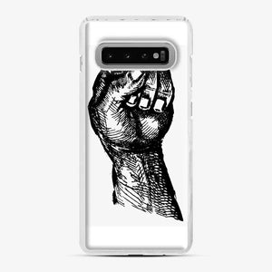 Black Owned 20 Samsung Galaxy S10 Case, White Plastic Case