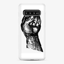 Load image into Gallery viewer, Black Owned 20 Samsung Galaxy S10 Case, White Rubber Case