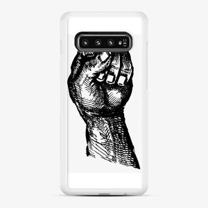 Black Owned 20 Samsung Galaxy S10 Case, White Rubber Case