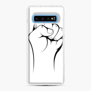Black Owned Business Fist Of Power End Racism 27 Samsung Galaxy S10 Case, White Plastic Case