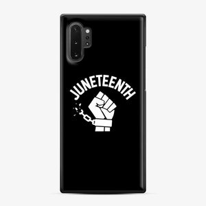 Black Owned Businesses Juneteenth Samsung Galaxy Note 10 Plus Case, Black Plastic Case