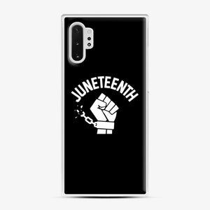 Black Owned Businesses Juneteenth Samsung Galaxy Note 10 Plus Case, White Plastic Case