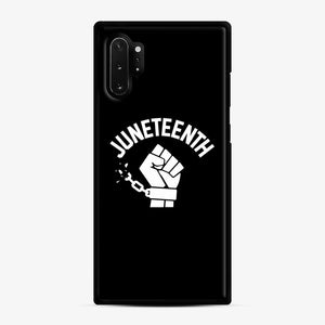 Black Owned Businesses Juneteenth Samsung Galaxy Note 10 Plus Case, Black Rubber Case