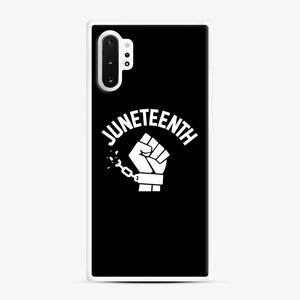 Black Owned Businesses Juneteenth Samsung Galaxy Note 10 Plus Case, White Rubber Case