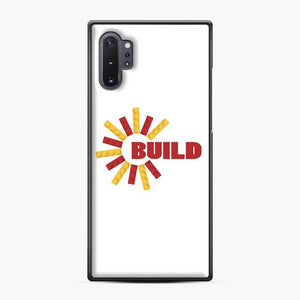 Build With Bricks Lego Samsung Galaxy Note 10 Plus Case, Black Plastic Case