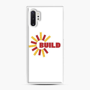 Build With Bricks Lego Samsung Galaxy Note 10 Plus Case, White Plastic Case