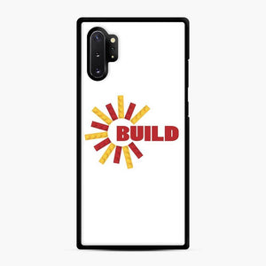Build With Bricks Lego Samsung Galaxy Note 10 Plus Case, Black Rubber Case