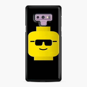 Building Blocks Cool Guy Lego Samsung Galaxy Note 9 Case, Black Plastic Case