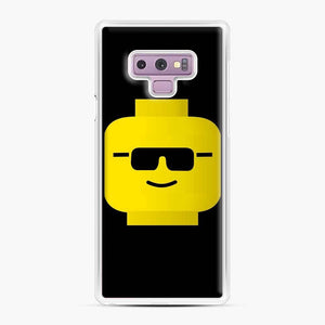 Building Blocks Cool Guy Lego Samsung Galaxy Note 9 Case, White Plastic Case