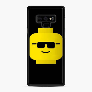 Building Blocks Cool Guy Lego Samsung Galaxy Note 9 Case, Black Rubber Case