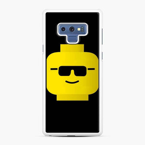 Building Blocks Cool Guy Lego Samsung Galaxy Note 9 Case, White Rubber Case