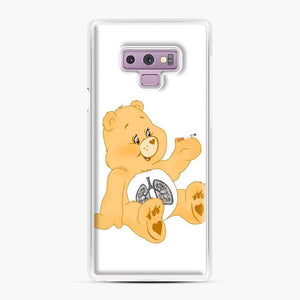 Bum A Cig Bear Scare Bears Samsung Galaxy Note 9 Case, White Plastic Case