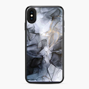 Calm But Dramatic Light Monochromatic Black Grey Abstract iPhone XS Max Case
