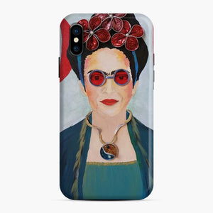Capsules Converted Into Beads For A World Icon Diadem Frida Kahlo iPhone X/XS Case