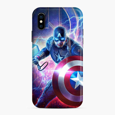 Captain America Shield and Mjolnir Lightning Hammer iPhone X / XS Case, Snap Case