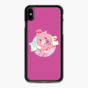Care Bears Love 1 iPhone XS Max Case, Black Rubber Case