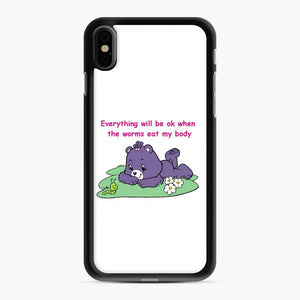 Care Bears Love 12 iPhone XS Max Case, Black Rubber Case
