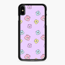 Load image into Gallery viewer, Care Bears Love 5 iPhone XS Max Case, Black Rubber Case