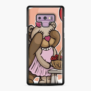 Care Bears Love 8 Samsung Galaxy Note 9 Case, Black Plastic Case