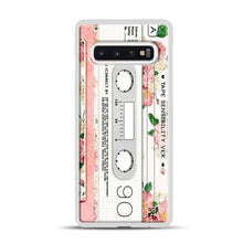Load image into Gallery viewer, Cassette Tape Sensibility Ver Samsung Galaxy S10 Case, White Plastic Case | Webluence.com