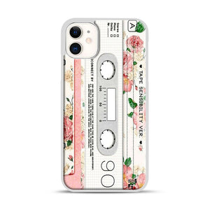 Cassette Tape Sensibility Ver iPhone 11 Case.jpg, White Rubber Case | Webluence.com