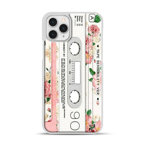 Cassette Tape Sensibility Ver iPhone 11 Pro Case, White Rubber Case | Webluence.com