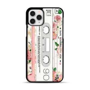 Cassette Tape Sensibility Ver iPhone 11 Pro Case, Black Rubber Case | Webluence.com