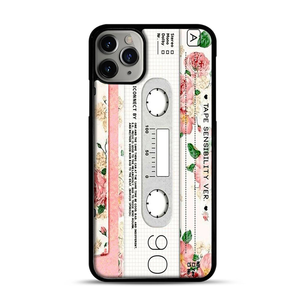 Cassette Tape Sensibility Ver iPhone 11 Pro Max Case.jpg, Black Plastic Case | Webluence.com