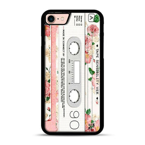 Cassette Tape Sensibility Ver iPhone 7/8 Case.jpg, Black Rubber Case | Webluence.com