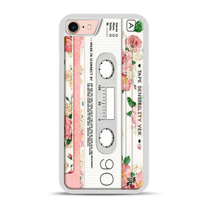 Cassette Tape Sensibility Ver iPhone 7/8 Case.jpg, White Plastic Case | Webluence.com