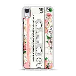 Cassette Tape Sensibility Ver iPhone XR Case, White Rubber Case | Webluence.com
