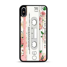 Load image into Gallery viewer, Cassette Tape Sensibility Ver iPhone XS Max Case, Black Rubber Case | Webluence.com