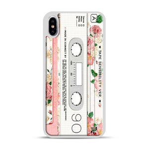 Cassette Tape Sensibility Ver iPhone XS Max Case, White Rubber Case | Webluence.com