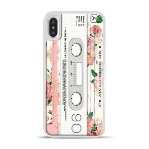 Cassette Tape Sensibility Ver iPhone X/XS Case, White Rubber Case | Webluence.com