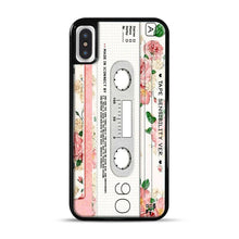Load image into Gallery viewer, Cassette Tape Sensibility Ver iPhone X/XS Case, Black Rubber Case | Webluence.com