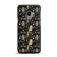 Load image into Gallery viewer, Cat Folk Samsung Galaxy S9 Case, Black Rubber Case | Webluence.com