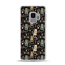 Load image into Gallery viewer, Cat Folk Samsung Galaxy S9 Case, White Rubber Case | Webluence.com