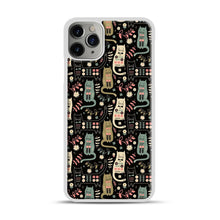Load image into Gallery viewer, Cat Folk iPhone 11 Pro Max Case.jpg, White Plastic Case | Webluence.com
