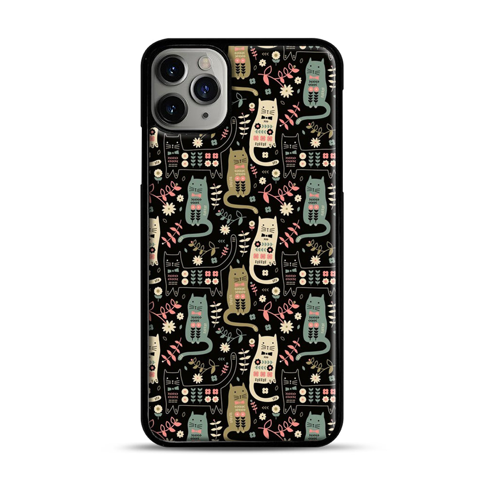 Cat Folk iPhone 11 Pro Max Case.jpg, Black Plastic Case | Webluence.com