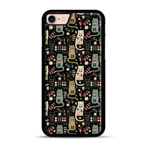 Cat Folk iPhone 7/8 Case.jpg, Black Rubber Case | Webluence.com