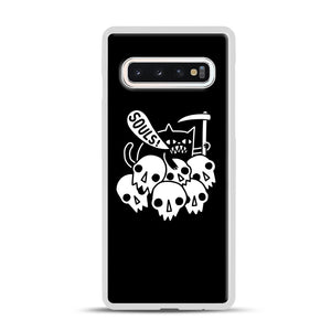 Cat Got Your Soul Samsung Galaxy S10 Case, White Rubber Case | Webluence.com