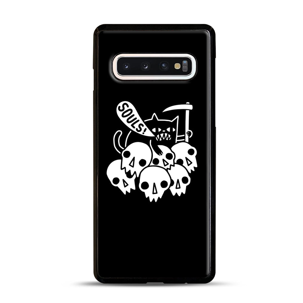 Cat Got Your Soul Samsung Galaxy S10 Case, Black Plastic Case | Webluence.com