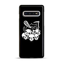 Load image into Gallery viewer, Cat Got Your Soul Samsung Galaxy S10 Case, Black Rubber Case | Webluence.com