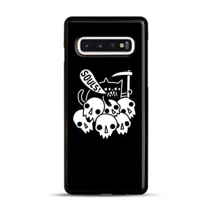 Cat Got Your Soul Samsung Galaxy S10 Case, Black Rubber Case | Webluence.com