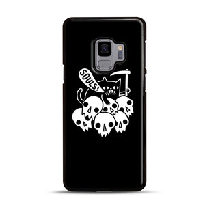 Cat Got Your Soul Samsung Galaxy S9 Case, Black Rubber Case | Webluence.com
