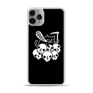 Cat Got Your Soul iPhone 11 Pro Max Case.jpg, White Plastic Case | Webluence.com