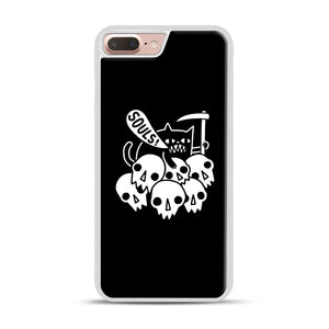 Cat Got Your Soul iPhone 7 Plus/8 Plus Case, White Rubber Case | Webluence.com