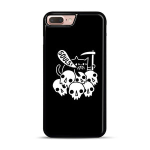 Cat Got Your Soul iPhone 7 Plus/8 Plus Case, Black Rubber Case | Webluence.com