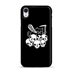 Cat Got Your Soul iPhone XR Case, Black Rubber Case | Webluence.com